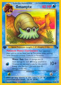 Omanyte 52//62 /& Omastar 40//62 Pokemon Card TCG Uncommon Original 151 Fossil Set